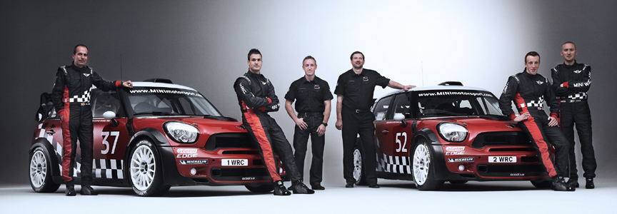 2011年のWRCには2台の「MINI カントリーマン」で出場する