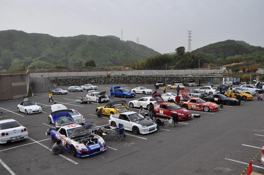 参加車両はランサーエボリューション、S2000、シビック、RX-7、CR-Zとバラエティ豊かだった