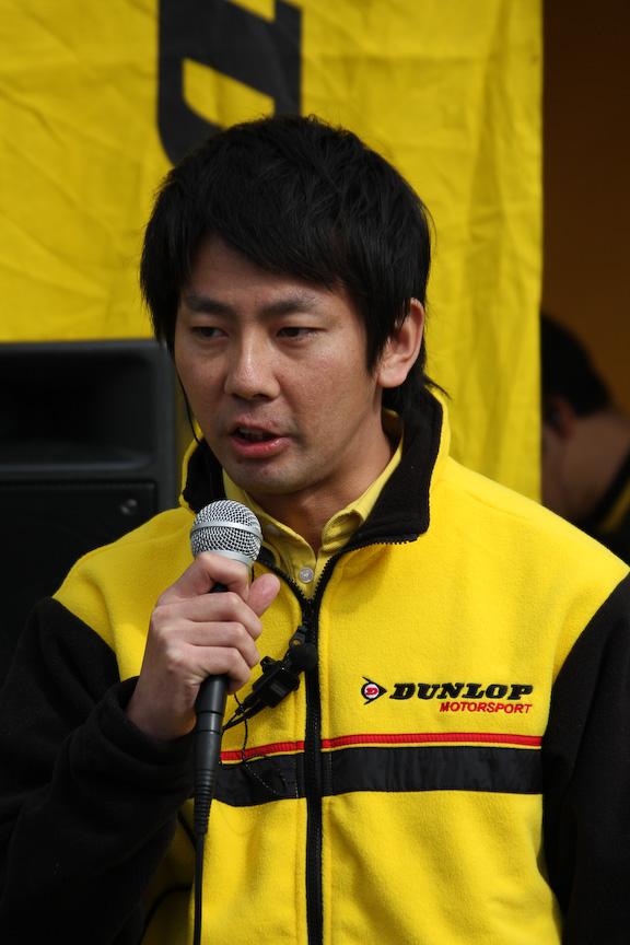 ドライビングレッスンを主催するダンロップの宮川義宏氏