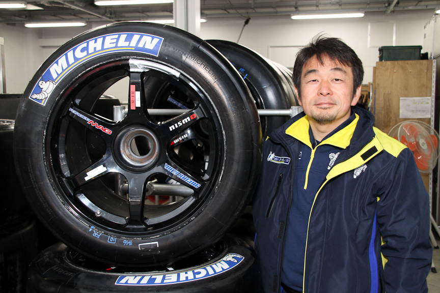 日本ミシュランタイヤ モータースポーツ マネージャー 小田島広明氏。ミシュランの日本でのモータースポーツ活動を統括している