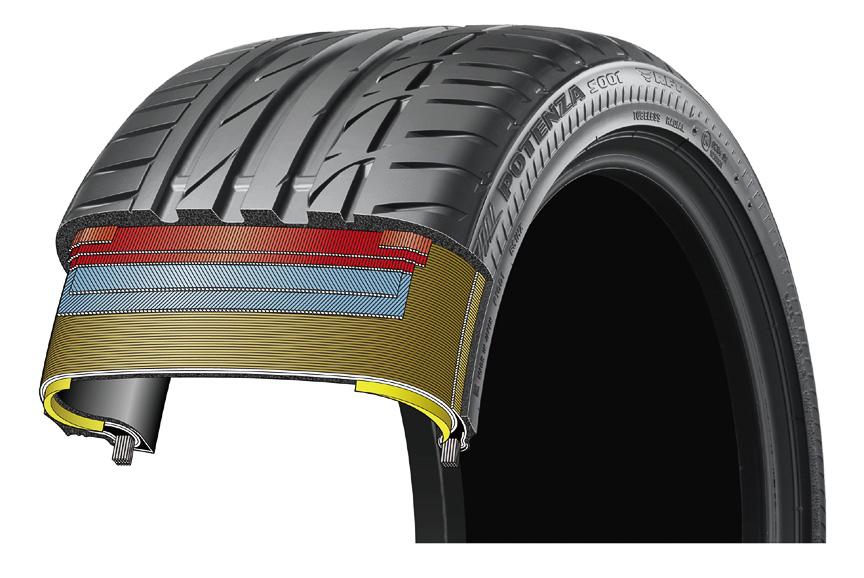 サイド補強型ランフラットタイヤの構造