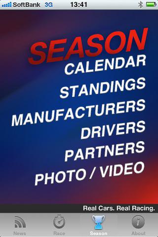 今シーズンの獲得ポイントや参加ドライバーなどの情報も見られる