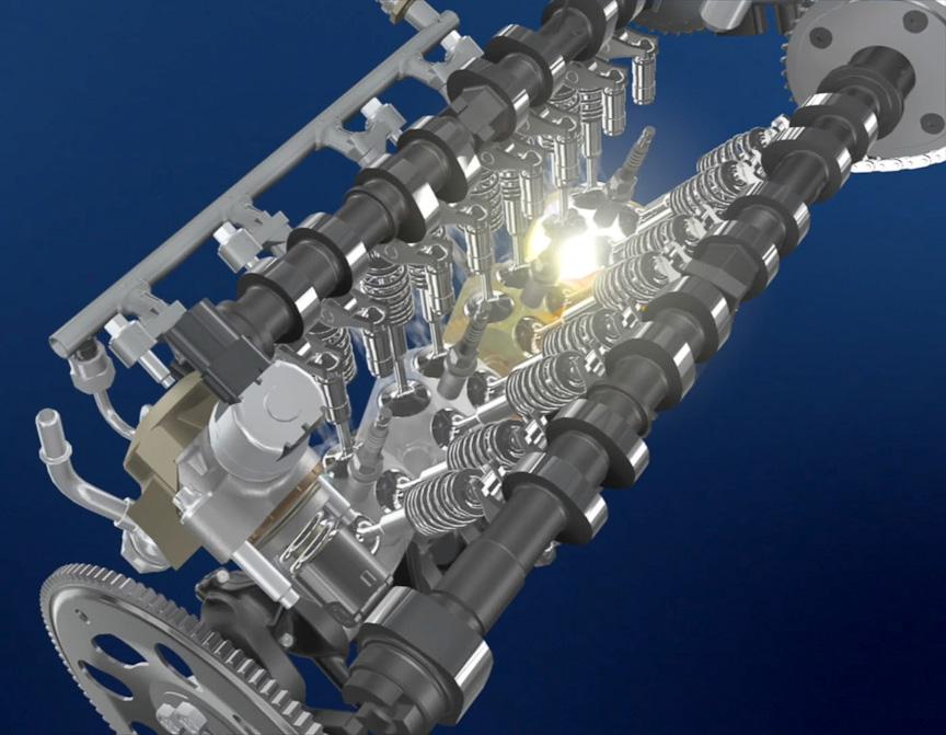 14.0という高圧縮比を実現したSKYACTIV-Gエンジン