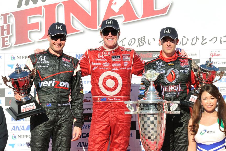 優勝はスコット・ディクソン、2位ウィル・パワー、3位はマルコ・アンドレッティに