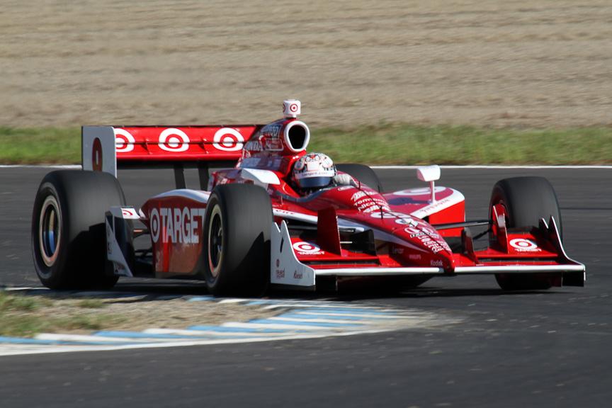 ポールポジションを獲得したターゲット・チップ・ガナッシ・レーシングのスコット・ディクソン。現在チャンピオン争いでは3位で、2位のウィル・パワー、1位のチームメイトを追っている