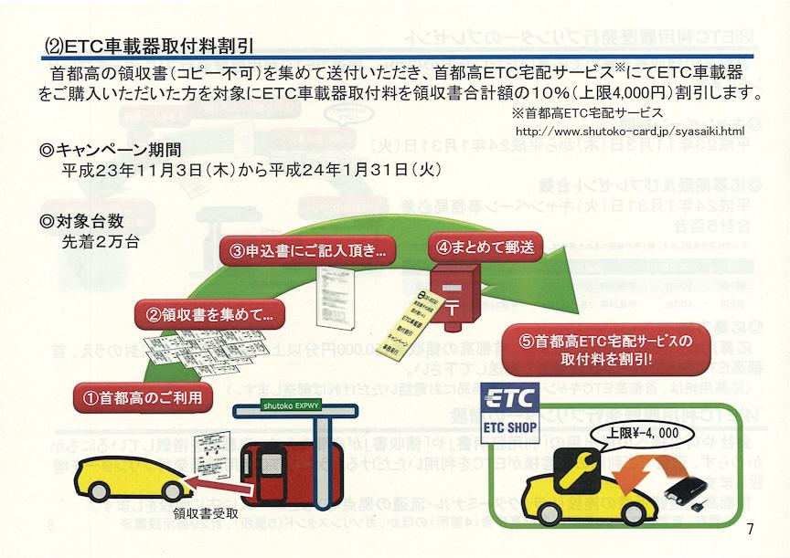 ETC車載器取付料割引