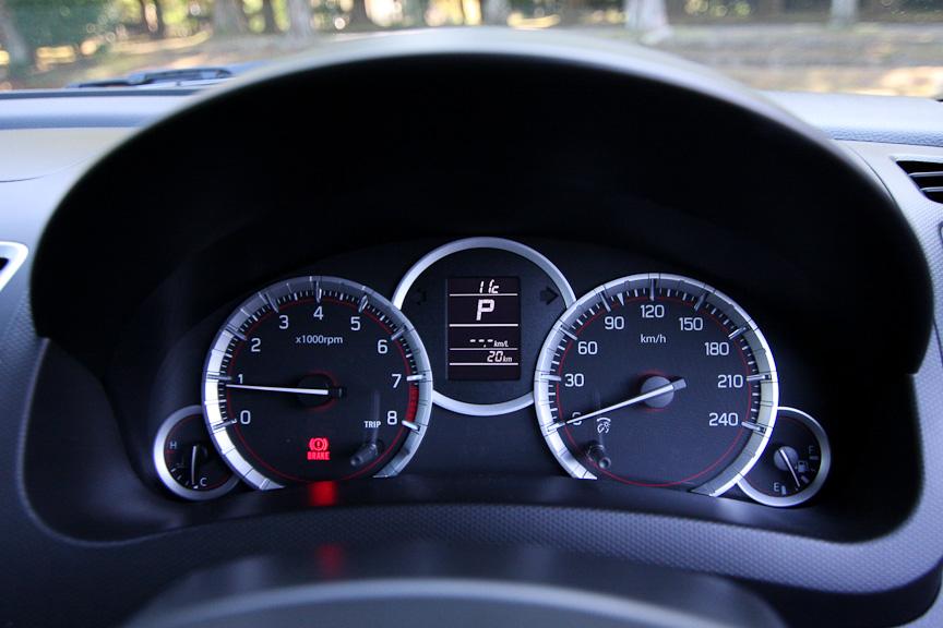 CVT車のインテリア