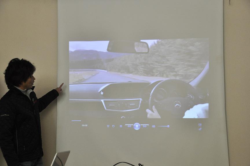 車載ビデオを使ってコース説明