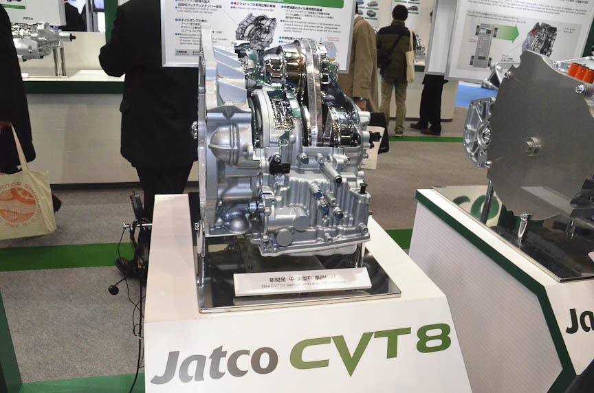 ジャトコの2~3.5リッターFF車用CVT「CVT8」。日産が2012年から採用する次世代エクストロニックCVTと思われる