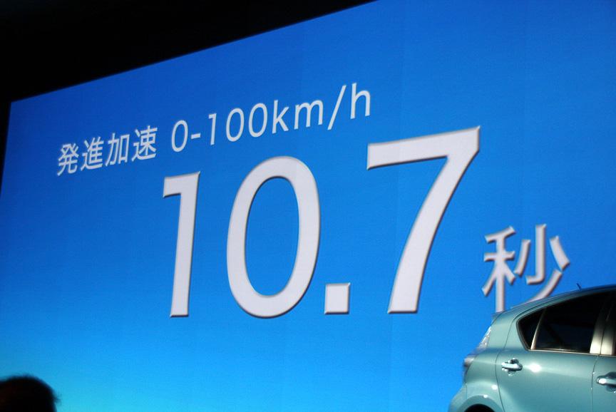 0-100km/h加速は10.7秒