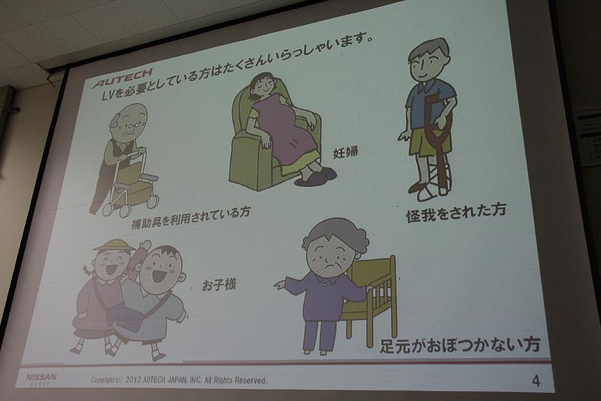利用者の中心は高齢者だが、現在では幅広い年齢層でLVが利用されるようになった