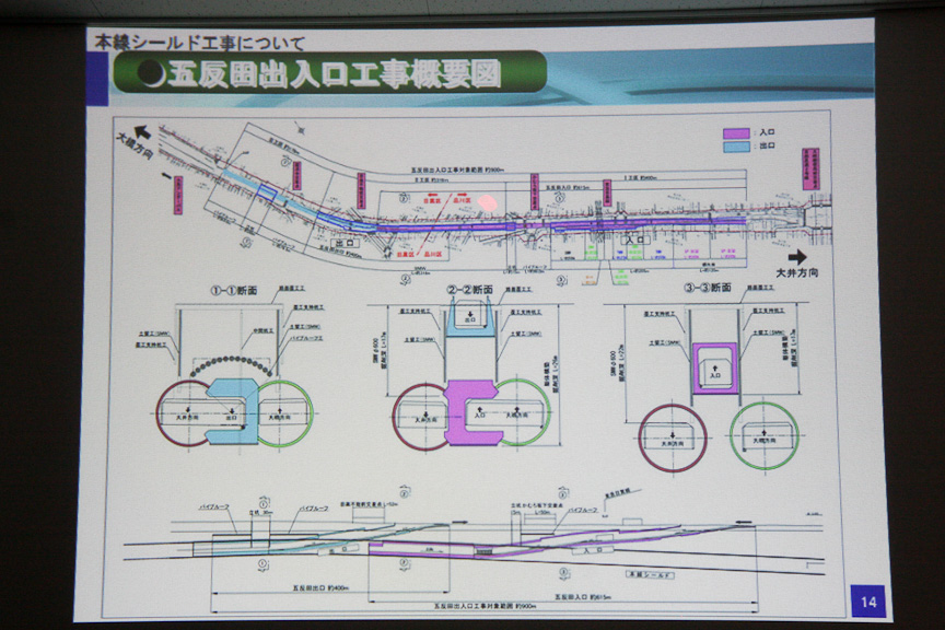 五反田出入口の工事概要図