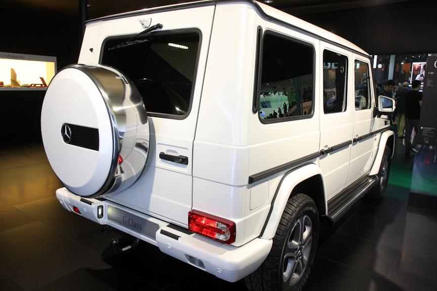 内装の大幅な進化と外装のリファインを行ったG500。エンジンはV型8気筒5.5リッターで、最高出力は388HP
