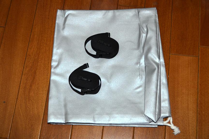 ボディーカバー収納袋と2本のベルト