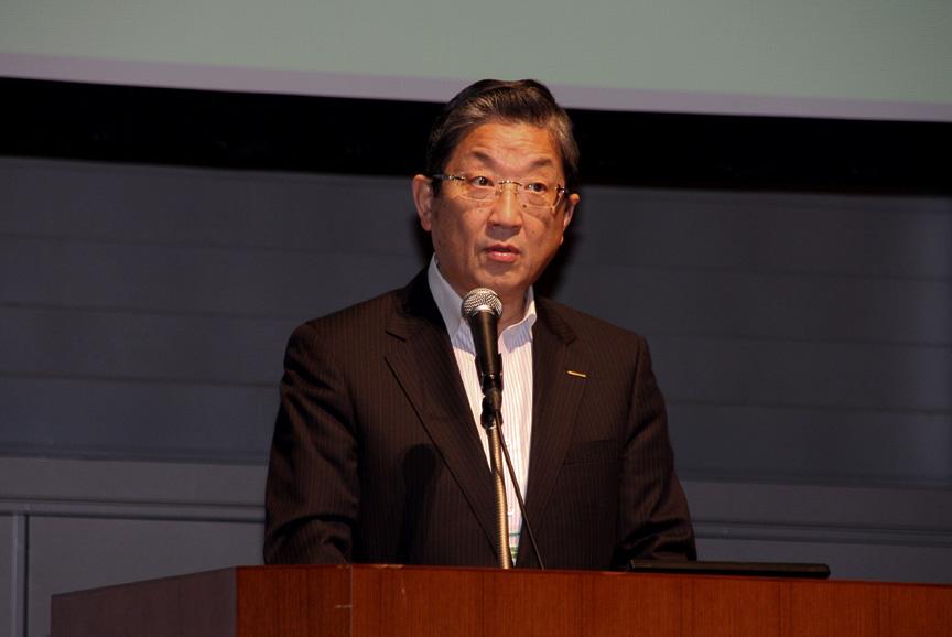CHAdeMO協議会会長の志賀俊之氏