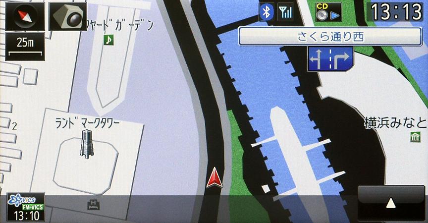 市街地図は50/25/10mスケールで表示可能