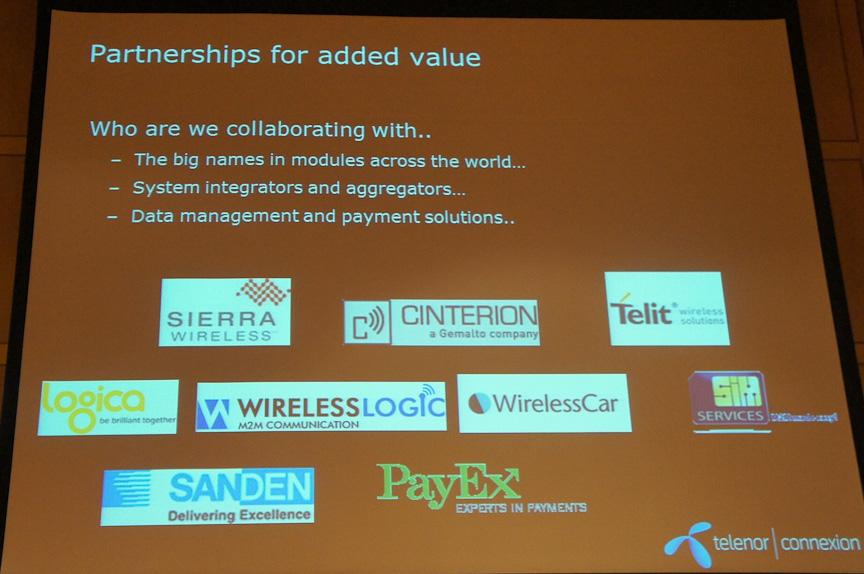 サービスはパートナー企業とも協力して提供される。例えば、Sierra Wirelessは通信モジュールの企業