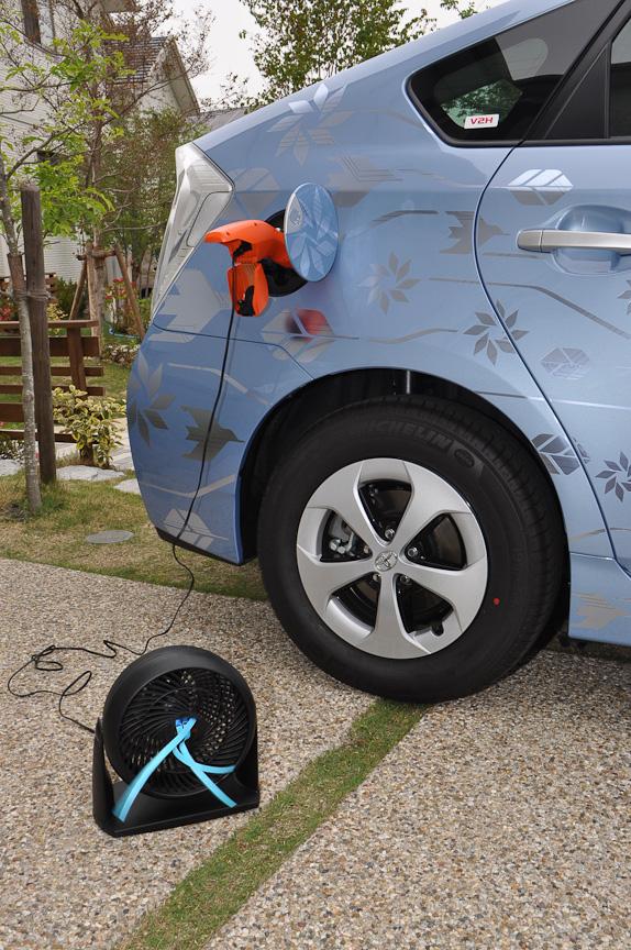 車両からの電力供給例