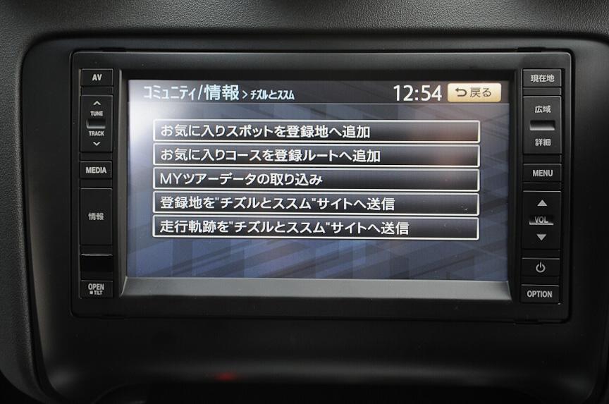 クラリオン提供のドライブ情報「チズルとススム」に対応