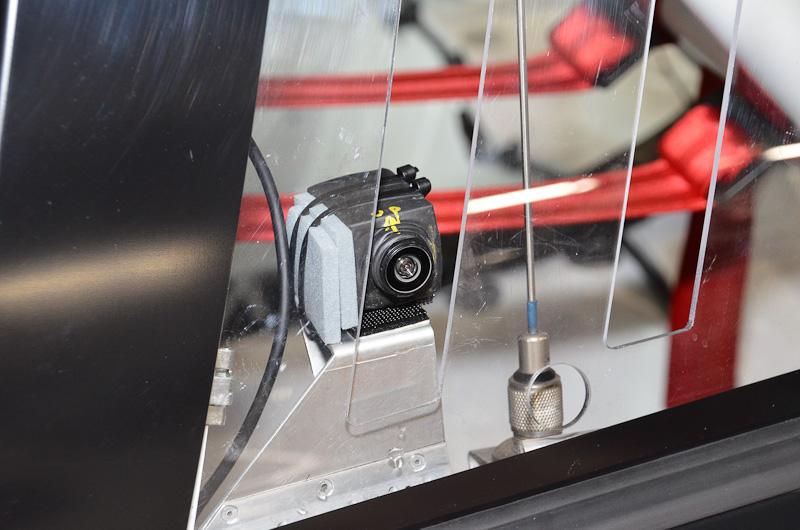 90号車の前後左右に設置されたサラウンドビュー用のカメラ