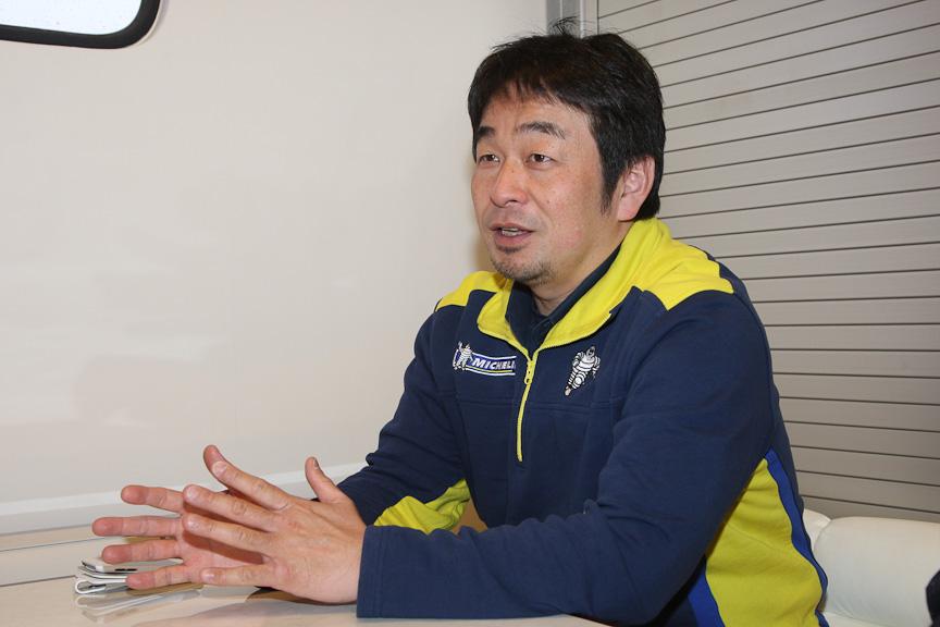 日本ミシュランタイヤでSUPER GT参戦を統括する小田島広明氏