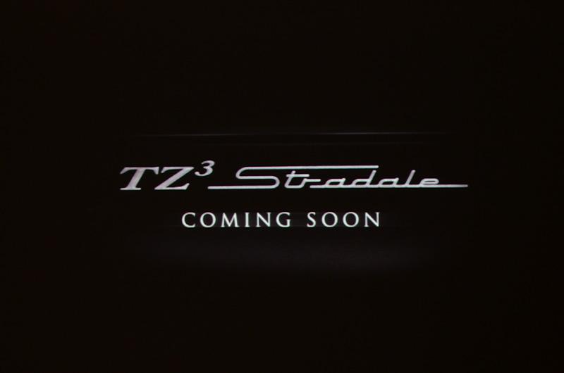 会場で流される映像に登場するTZ3 ストラダーレ。ダッジ バイパーをベースとするスーパースポーツで、8.4リッターV10エンジンを搭載する