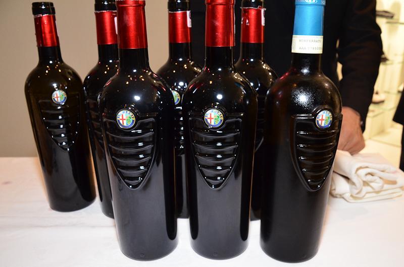 会場で供されたアルファ ロメオ公式認定ワイン