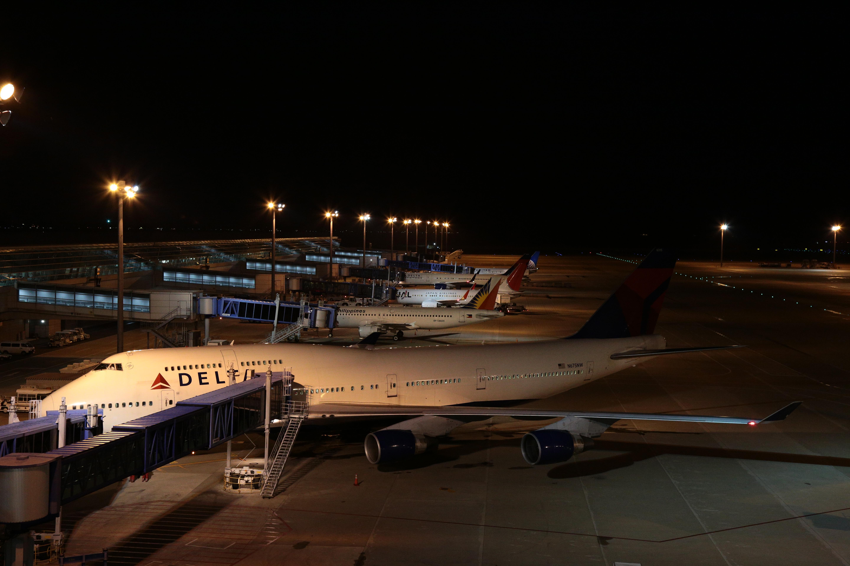 駐機している機体の撮影は特に問題なし
