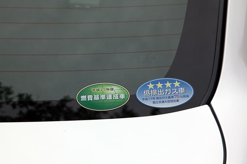 1.5リッター、1.3リッターともにFF&&CVT車はエコカー減税の対象車