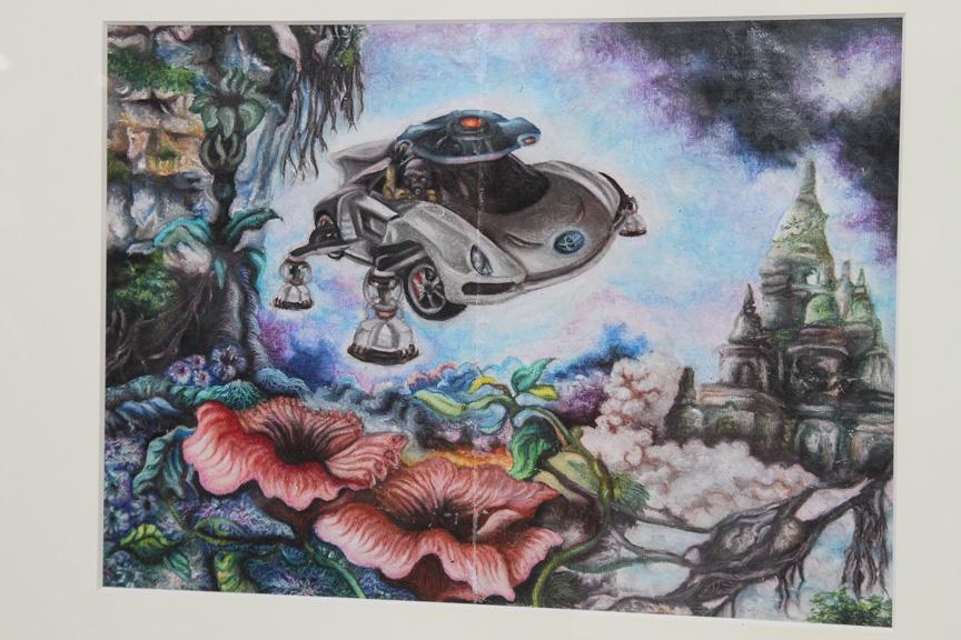 作品名「The four-legged flying car with solar energy(ザ フォーレグド フライングカー ウィズ ソーラー エナジー)」
