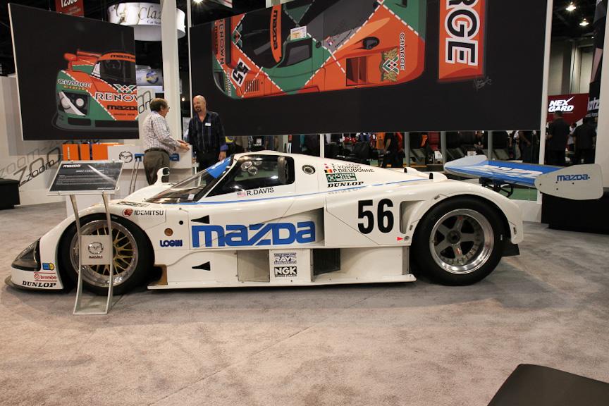 1991年のル・マン24時間レースで総合優勝した787Bのベースとなった787。2台製作された1台がこのマシンで、MNAO(マツダ・ノース・アメリカ・オペレーションズ)がマツダから購入しレストアして保存していると言う