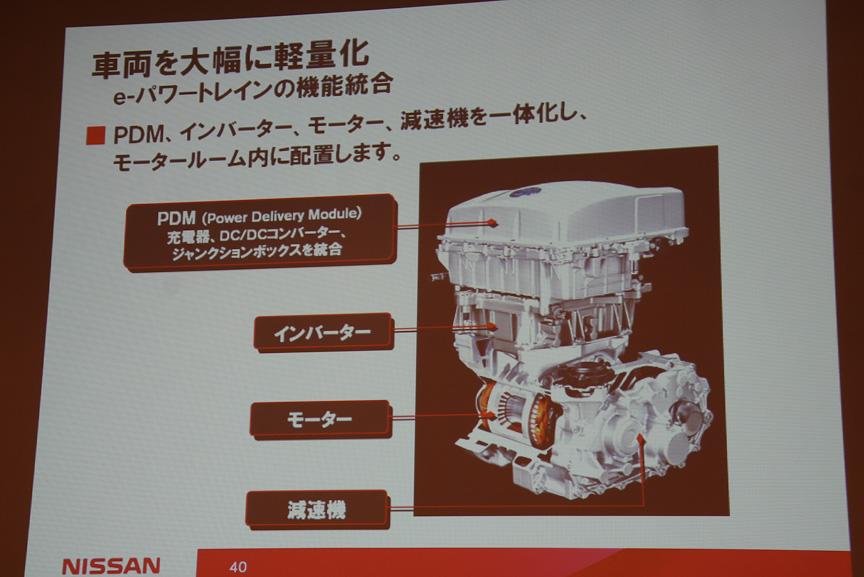 レアアースを削減した新型モーターを採用する「e-パワートレーン」