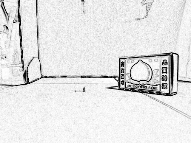 Photo17:輪郭抽出で外形を明確にする(左)