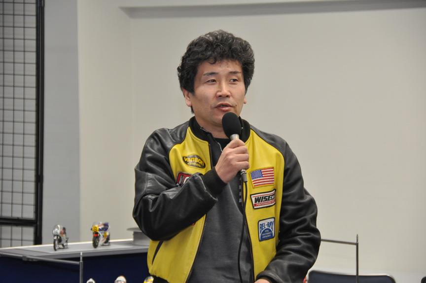 途中から模型設計者のタミヤ 企画開発部第二課 海野剛弘氏が参加