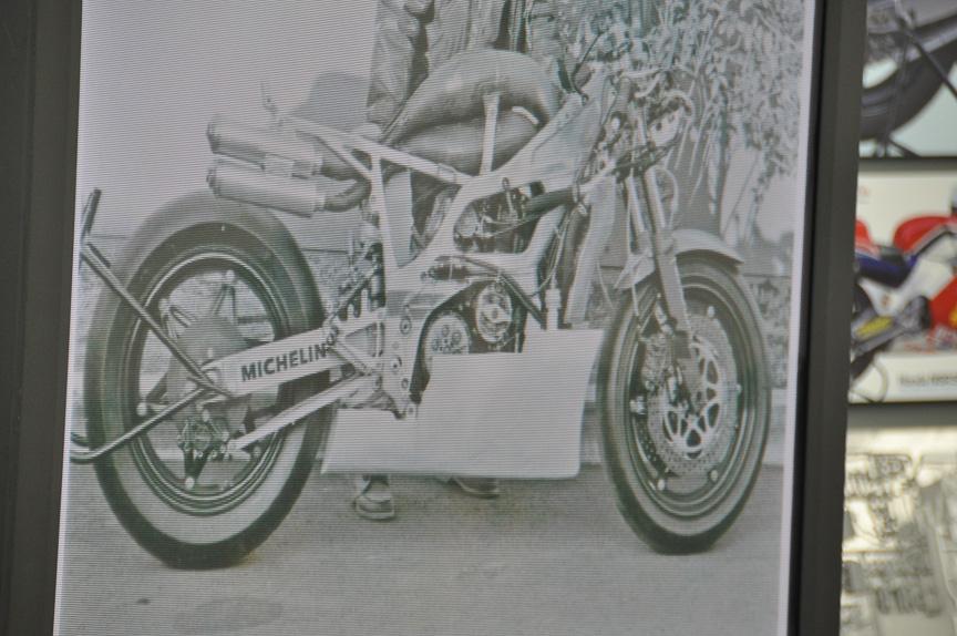 1984年当時の写真。レーシングマシンであるためレースごとに各部が微妙に異なる