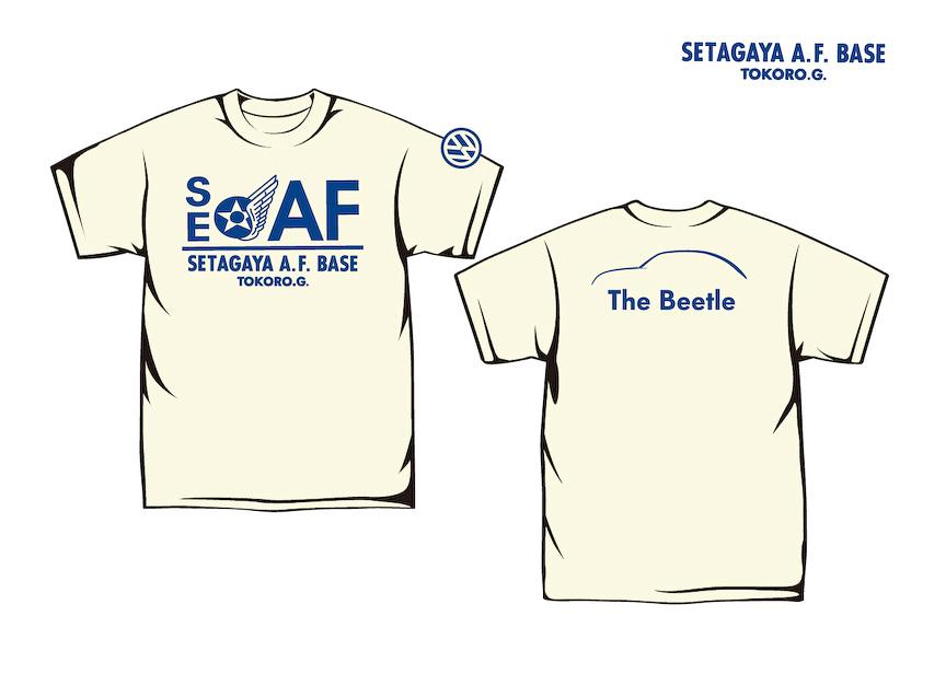 モニター試乗キャンペーン当選者には、抽選で所さんが出演するTV番組「世田谷ベース」とザ・ビートルのコラボレーションTシャツがプレゼントされる