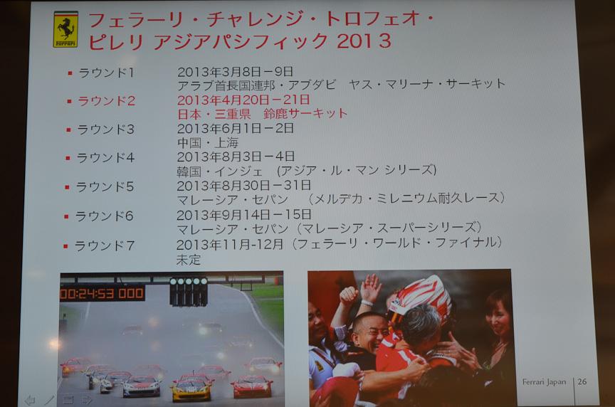 フェラーリ・チャレンジ・トロフェロ・ピレリ・アジア・パシフィックの第2戦が開催される