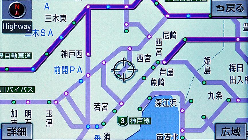 都市間/都市高速を略図で表示する高速路線マップ