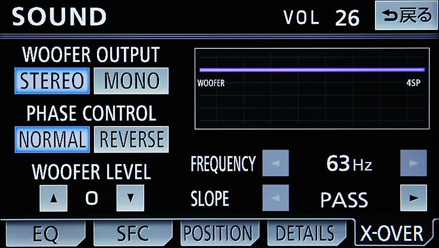 マルチスピーカーシステムの構築には必須のクロスオーバーも搭載