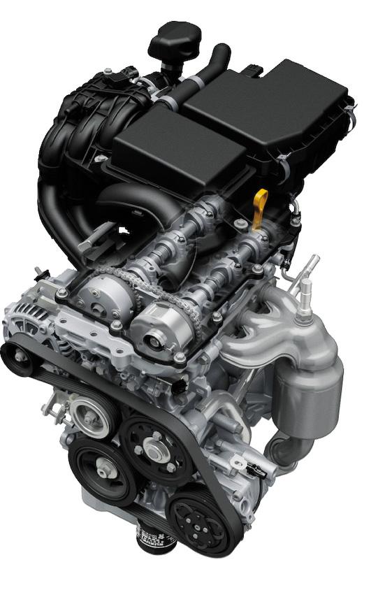 直列3気筒DOHC 0.66リッター自然吸気エンジン