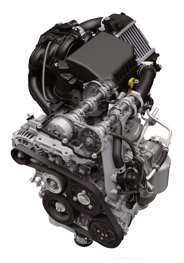 直列3気筒DOHC 0.66リッター ターボエンジン