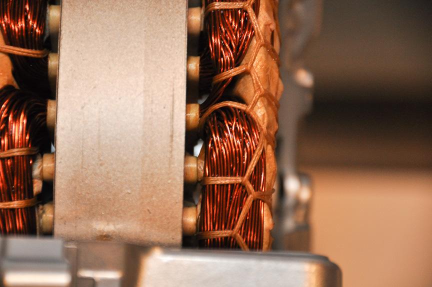 発電用モーターの巻線