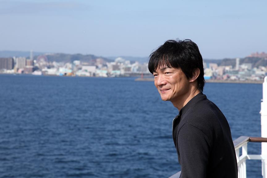 フェリーのデッキから眺める桜島。気持ちよかったです