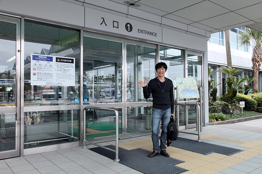 鹿児島空港に到着。鹿児島空港の向かいにある、かごしま空港ホテルからクルマ旅は始まる