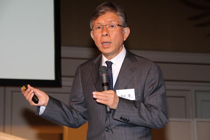 清水浩代表取締役社長