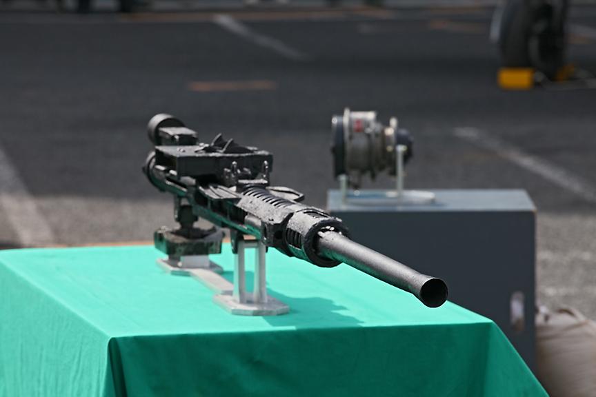 ベルト給弾式の九九式20mm二号機銃四型の展示なども行われていた。この機銃は、零戦五二型甲など武装強化型の後期零戦五二型シリーズで用いられた