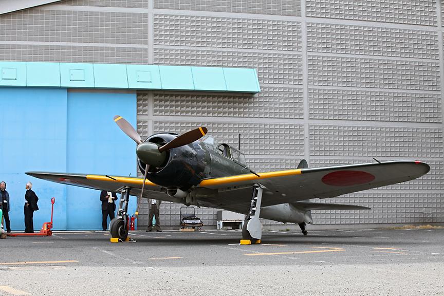 所沢航空発祥記念館でエンジン始動&タキシングが公開された零戦五二型(A6M5)