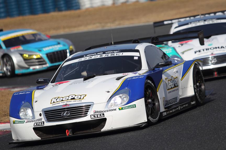 GT500クラスとGT300クラスが混走するSUPER GT