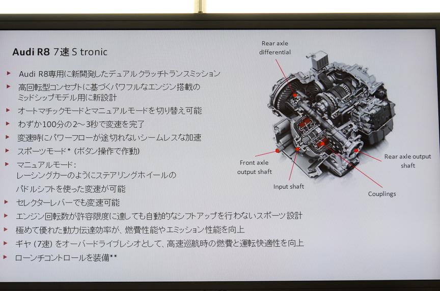 R8のデュアルクラッチ・トランスミッション