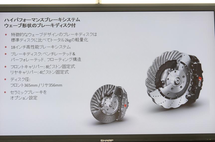R8のブレーキシステムはウェーブ形状のディスクを採用する